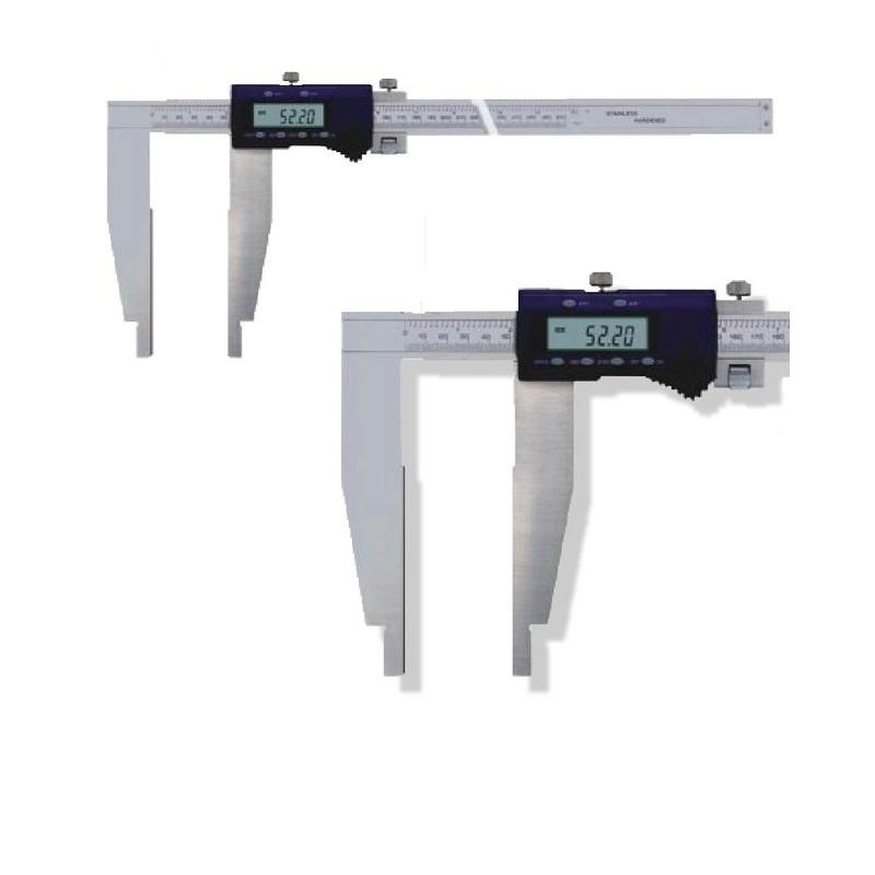 Werkstatt Messschieber Digital 800 mm Gen. 0,07 mm, Schnabel 200 mm