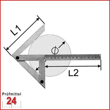 Zentrierwinkel 150 x 130 mm Winkelmesser Zentriergerät NEU OVP Winkel