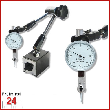 Magnet Messstativ Zentralklemmunginkl. FühlhebelmessgerätMessbereich 0,8 / 0,01 mm