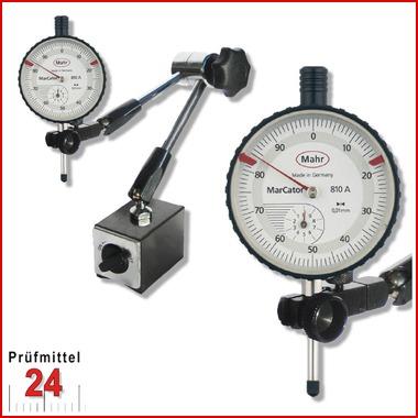 Magnet Messstativ Zentralklemmunginkl. Mahr Messuhr im SETMessbereich 10 / 0,01 mm